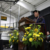 Dr. Richard S. Lapidus gives the inaugural address at the inauguration ceremony to make him the 11th president of Fitchburg State University on Thursday afternoon at the Athletics & Recreation Center on the campus. SENTINEL & ENTERPRISE/JOHN LOVE