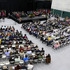 The inauguration ceremony for Richard S. Lapidus the 11th president of Fitchburg State University on Thursday afternoon at the Athletics & Recreation Center on the campus. SENTINEL & ENTERPRISE/JOHN LOVE