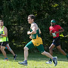 Fitchburg State University Cross Country teams held the Jim Sheehan Memorial Invitational at the Doyle Conservation Area in Leominster on Saturday, September 7, 2019.  FSU's Cameron Sousa (#205) at the start of the race. Just behind him is is FSU's Ryan Carter (#189). SENTINEL & ENTERPRISE/JOHN LOVE