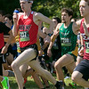 Fitchburg State University Cross Country teams held the Jim Sheehan Memorial Invitational at the Doyle Conservation Area in Leominster on Saturday, September 7, 2019. FSU's Jacob Movsessian (#200) at the start of the men's race. SENTINEL & ENTERPRISE/JOHN LOVE
