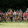 Fitchburg State University Cross Country teams held the Jim Sheehan Memorial Invitational at the Doyle Conservation Area in Leominster on Saturday, September 7, 2019. Start of the men's race. SENTINEL & ENTERPRISE/JOHN LOVE