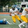 Fitchburg State's Sterlin Garvin runs the ball during the game against Worcester State on Saturday afternoon. SENTINEL & ENTERPRISE / Ashley Green