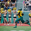 Fitchburg State University's Malcolm Brown-Simpson runs it in for a touchdown during the game against Castleton on Saturday afternoon. SENTINEL & ENTERPRISE / Ashley Green