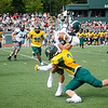 Fitchburg State University's Tre Watson brings down Ryan Barry during the game against Castleton on Saturday afternoon. SENTINEL & ENTERPRISE / Ashley Green