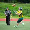 Fitchburg State University's Taylor Ekstrom catches the kickoff during the game against Castleton on Saturday afternoon. SENTINEL & ENTERPRISE / Ashley Green
