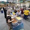 "The incoming freshmen class at Fitchburg State University helped package up tjhe stuff to make minestrone soup in the gym at the university's Recreation Center on Tuesday morning. This project is sponsored by the United Way of North Central MA. and the University and is part of the students orientation. All of the ingredients for the soups is brought by ""The Outreach Program."" The ingredients for the soup is pasta, pinto beans, soy beans, dehydrated vegetables and red sauce. SENTINEL & ENTERPRISE/JOHN LOVE"