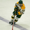 Fitchburg State's Brandon Ecklund in action during the game against Salem State on Thursday evening. SENTINEL & ENTERPRISE / Ashley Green