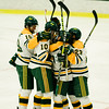 Fitchburg State celebrates a goal during the game against Salem State on Thursday evening. SENTINEL & ENTERPRISE / Ashley Green