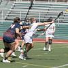Fitchburg State University ladies lacrosse played Salem State University on Saturday, March 27, 2021 at Elliot Field.  FSU's #14 Julia Miele fires a shot on goal and scored. SENTINEL & ENTERPRISE/JOHN LOVE