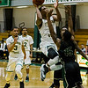 Fitchburg State's Jaleel Bell in against against Elms College on Tuesday evening. SENTINEL & ENTERPRISE / Ashley Green