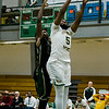 Fitchburg State's Jalen Williams in against against Elms College on Tuesday evening. SENTINEL & ENTERPRISE / Ashley Green