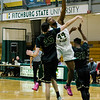 Fitchburg State's Eric Mokum, Jr. in against against Elms College on Tuesday evening. SENTINEL & ENTERPRISE / Ashley Green