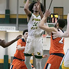 Fitchburg State University men's basketball played Salem State University on Saturday, Jan. 11, 2020 at the FSU's Recreation Center. FSU's #22 Dominik Williams. SENTINEL & ENTERPRISE/JOHN LOVE