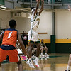 Fitchburg State University men's basketball played Salem State University on Saturday, Jan. 11, 2020 at the FSU's Recreation Center. FSU's #44 Trevian Hinson. SENTINEL & ENTERPRISE/JOHN LOVE