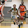 Fitchburg State University men's basketball played Salem State University on Saturday, Jan. 11, 2020 at the FSU's Recreation Center. FSU's #34 Anthony Diaz. SENTINEL & ENTERPRISE/JOHN LOVE