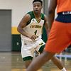Fitchburg State University men's basketball played Salem State University on Saturday, Jan. 11, 2020 at the FSU's Recreation Center. FSU's #4 Devon Johnson. SENTINEL & ENTERPRISE/JOHN LOVE