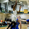 Fitchburg State's Nicholas Tracy in action during the game against Worcester State on Thursday, February 23, 2017. WSU would come out on top 71-68, moving on to the MASCAS finals on Saturday. SENTINEL & ENTERPRISE / Ashley Green