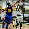 Fitchburg State's Josh Bosworth in action during the game against Worcester State on Thursday, February 23, 2017. WSU would come out on top 71-68, moving on to the MASCAS finals on Saturday. SENTINEL & ENTERPRISE / Ashley Green