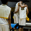 Fitchburg State's Josh Bosworth and Leonny Burgos lean on each other following the game against Worcester State on Thursday, February 23, 2017. WSU would come out on top 71-68, moving on to the MASCAS finals on Saturday. SENTINEL & ENTERPRISE / Ashley Green