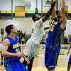 Fitchburg State's Jalen Williams goes for the rebound during the game against Worcester State on Thursday, February 23, 2017. WSU would come out on top 71-68, moving on to the MASCAS finals on Saturday. SENTINEL & ENTERPRISE / Ashley Green