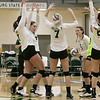 Fitchburg State University played Bay Path College on Saturday, August 31, 2019. The team celebrates a point during the game. SENTINEL & ENTERPRISE/JOHN LOVE