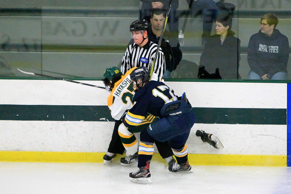 . FSU\'s Corey Hayashi and UMass Brandon Berkley tangle up FSU vs UMass Dartmouth SENTINEL&ENTERPRISE/Scott LaPrade