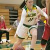Fitchburg State University womens basketball played Worcester Polytechnic Institute on Thursday night, Nov. 21, 2019 in Fitchburg. FSU's #11 Payton Holmes. SENTINEL & ENTERPRISE/JOHN LOVE