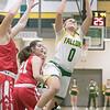Fitchburg State University womens basketball played Worcester Polytechnic Institute on Thursday night, Nov. 21, 2019 in Fitchburg. FSU's #0 Angelina Marazzi. SENTINEL & ENTERPRISE/JOHN LOVE