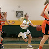 Fitchburg State University women's basketball played Salem State University on Saturday, Jan. 11, 2020 at the FSU's Recreation Center. FSU's #0 Angelina Marazzi takes off down court. SENTINEL & ENTERPRISE/JOHN LOVE