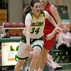 Bridgewater State University girls basketball visited Fitchburg on Wednesday, Jan. 22, 2020 to play Fitchburg State University. FSU's #34 Mishelle Logie. SENTINEL & ENTERPRISE/JOHN LOVE