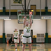 Bridgewater State University girls basketball visited Fitchburg on Wednesday, Jan. 22, 2020 to play Fitchburg State University. FSU's #22 Catherine Coppinger shoots a free throw during the first quarter of the game. SENTINEL & ENTERPRISE/JOHN LOVE