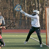 Fitchburg State University women's lacrosse played Regis College on Thursdasy afternoon, March 5, 2020. FSU's goalie #20 Francesca Reves. SENTINEL & ENTERPRISE/JOHN LOVE