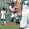 Fitchburg State University men soccer played Framingham State University on Saturday, September 21, 2019 at Elliot Field on campus. FSU's #27 Joshua Atemkeng. SENTINEL & ENTERPRISE/JOHN LOVE
