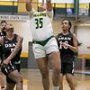 Fitchburg State University women's basketball played Dean College on Tuesday night at the FSU Recreation Center in Fitchburg. FSU's #35 Jadelen Harold. SENTINEL & ENTERPRISE/JOHN LOVE