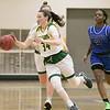 Fitchburg State University womens basketball played Albertus Magnus College on Saturday, Nov. 23, 2019 at the university's Recreation Center. FSU's #34 Mishelle Logie. SENTINEL & ENTERPRISE/JOHN LOVE