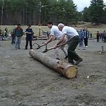 April 23, 2004: WW04 Friday events at Oak Hill.  (Movie)  David Kotz and Put Blodgett log rolling.