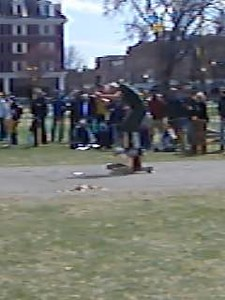 April 24, 2004: WW04 Saturday events on the Green.  Put Blodgett '53 h-chopping.