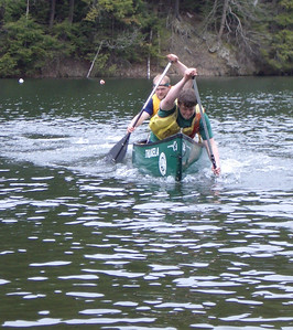 April 23, 2004: WW04 Friday events at Storrs Pond. Dartmouth men's team drives home in the doubles canoeing.