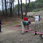 April 23, 2004: WW04 Friday events at Oak Hill. (Movie) Kevin Peterson splitting a particularly nasty log.