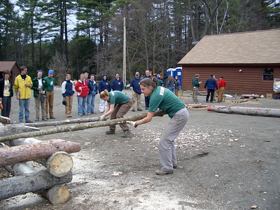 April 23, 2004: WW04 Friday events at Oak Hill and Storrs Pond. Dartmouth women's team in the scoot load competition.
