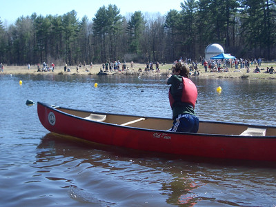 WW2008 at UNH. Phil starts the second leg of singles canoeing.
