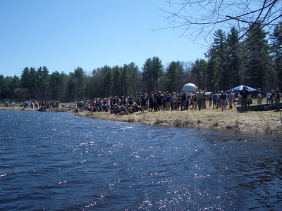 WW2008 at UNH. The teams watch a demo of the canoeing course.