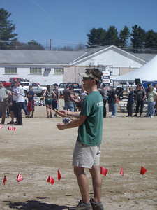 WW2008 at UNH. Dartmouth men's team in the *triples* event, Logger Relay.  Josh is flycasting.