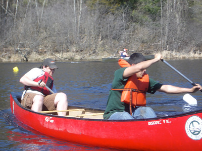 WW2008 at UNH. Dartmouth men's team in double's canoeing (Max and Ian).