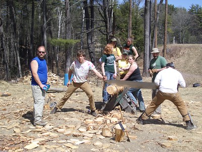 Woodsmen's team practice 2005