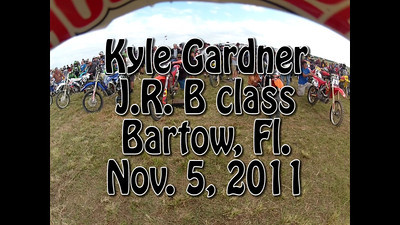 VIDEO:Kyle Gardner #288 JR B class Bartow, Florida -Nov. 5, 2011