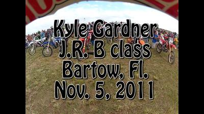 VIDEO:Kyle Gardner #288 JR B class Bartow, Florida -Nov. 5, 2011