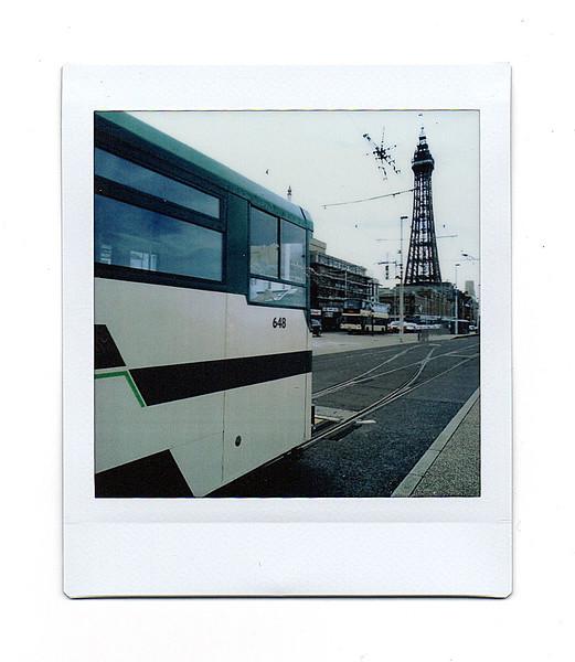 tram & tower, blackpool, lancs