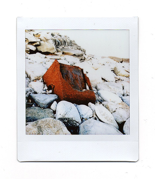 rusty container, peverill point, swanage, dorset
