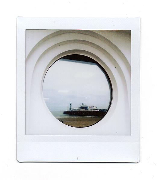 pier reflection, promenade, bournemouth, dorset